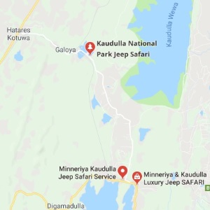 Kaudulla National Park map